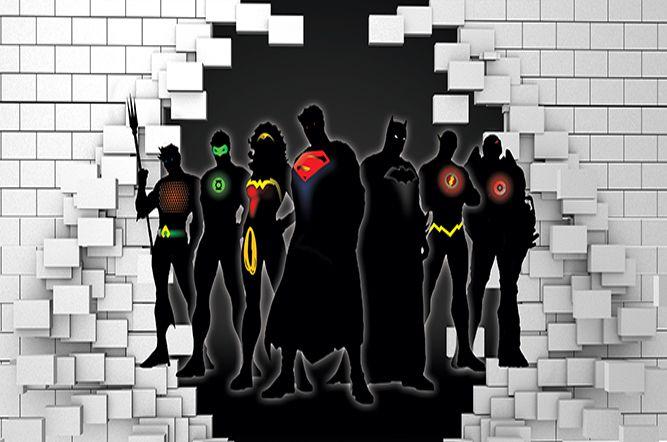 Papel de Parede para Quarto Infantil Super Heróis 0043  - Paredes Decoradas