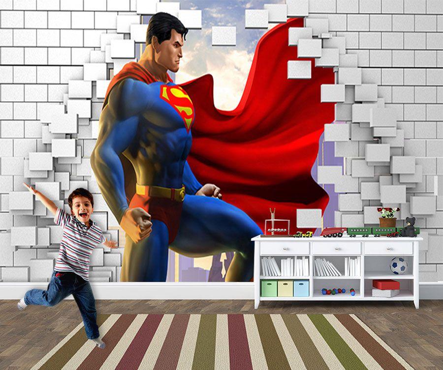 Papel de Parede para Quarto Infantil Super Heróis 0046