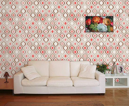 Papel de Parede para Sala Abstrato 0003  - Paredes Decoradas