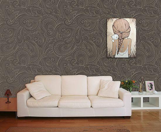 Papel de Parede para Sala Abstrato 0031