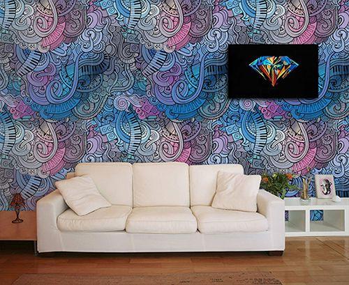 Papel de Parede para Sala Abstrato 0040