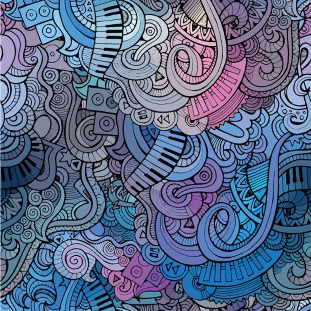Papel de Parede para Sala Abstrato 0040  - Paredes Decoradas