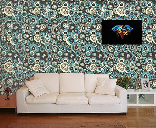 Papel de Parede para Sala Abstrato 0047  - Paredes Decoradas