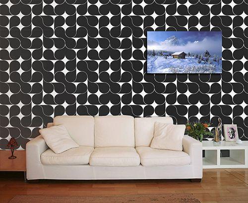 Papel de Parede para Sala Abstrato 0052  - Paredes Decoradas