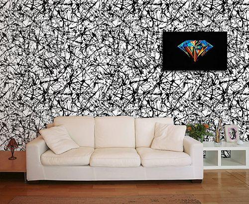 Papel de Parede para Sala Abstrato 0054