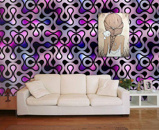 Papel de Parede para Sala Abstrato 0062  - Paredes Decoradas