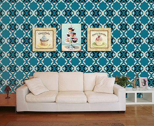Papel de Parede para Sala Abstrato 0066  - Paredes Decoradas
