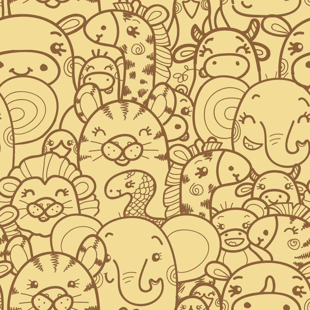 Papel de Parede para Sala Animais 0018 - Adesivos de Parede  - Paredes Decoradas