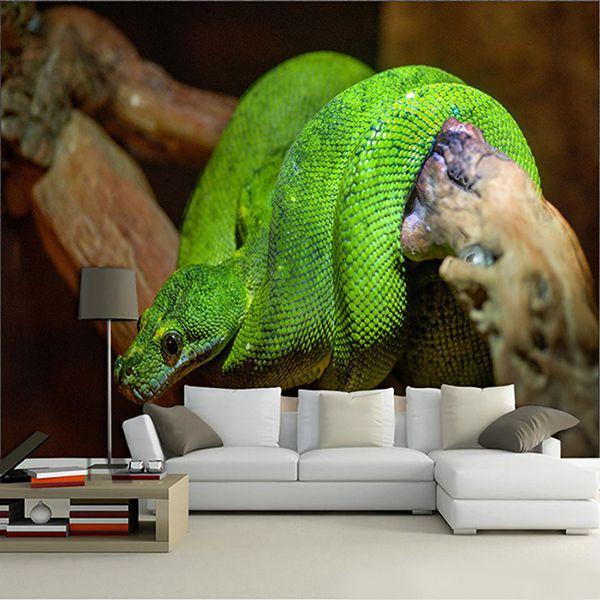 Papel De Parede para Sala | Animais 3D 0010 - Sobmedida: m²  - Paredes Decoradas