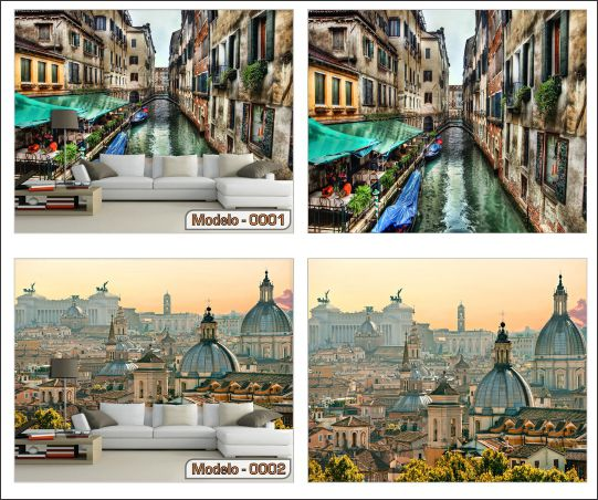 Papel de Parede para Sala | Cidades Itália - Sobmedida: m²  (papel de parede paisagem)  - Paredes Decoradas