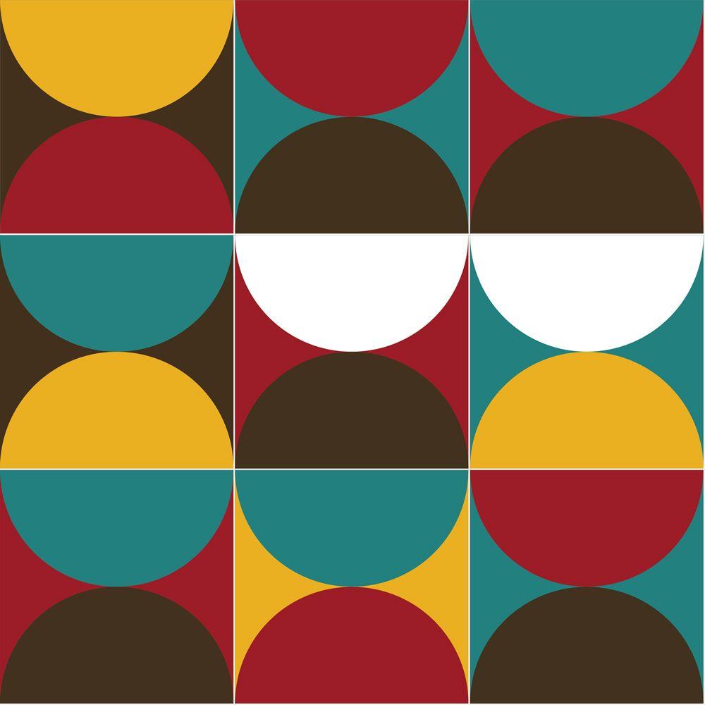 Papel de Parede para Sala Geométrico 0093 - Adesivos de Parede
