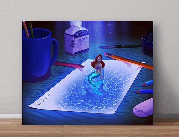 Quadro Decorativo Ariel 0003  - Paredes Decoradas