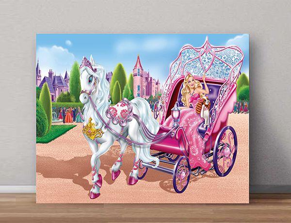 Quadro Decorativo Barbie 0001  - Paredes Decoradas