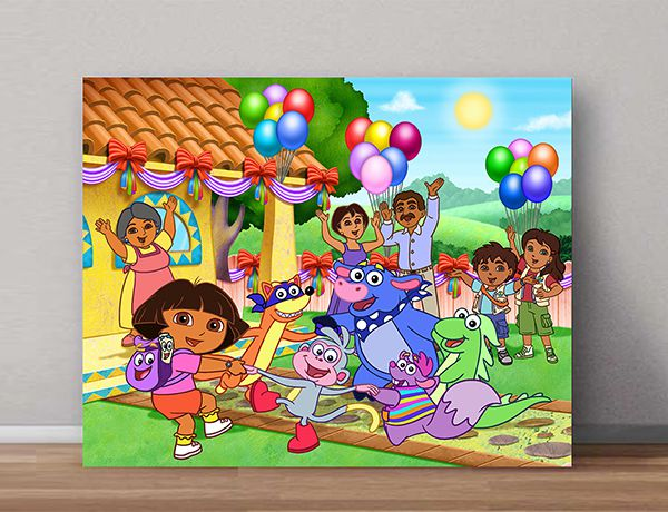 Quadro Decorativo Dora Aventureira 0006  - Paredes Decoradas