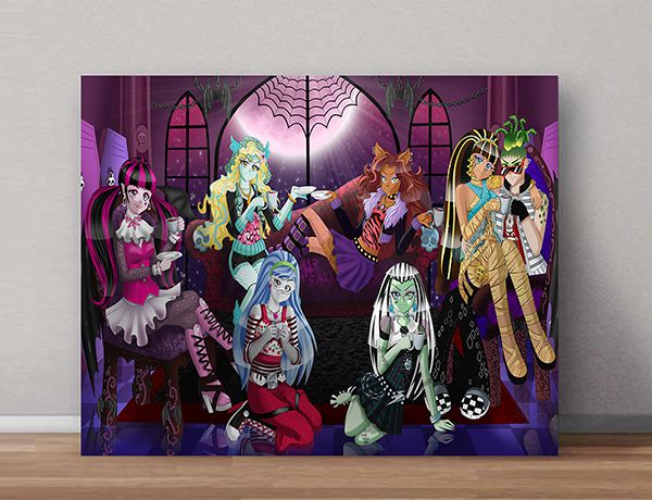 Quadro Decorativo Monster High 0002  - Paredes Decoradas