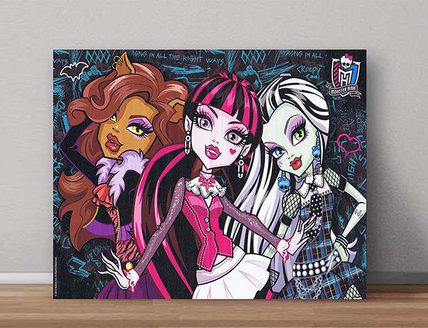 Quadro Decorativo Monster High 0004  - Paredes Decoradas