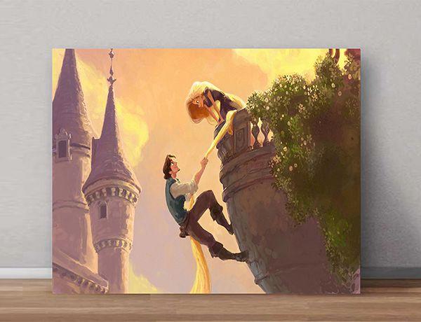 Quadro Decorativo Rapunzel 0001  - Paredes Decoradas