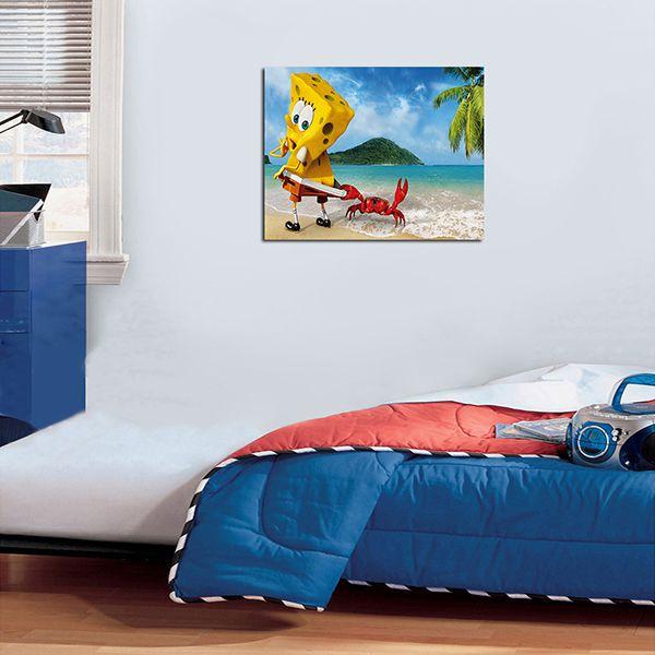 Quadro Decorativos Bob Esponja 0005  - Paredes Decoradas
