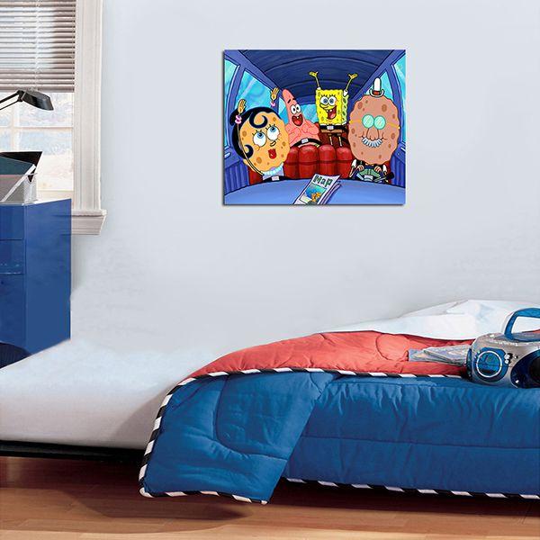 Quadro Decorativos Bob Esponja 0007  - Paredes Decoradas