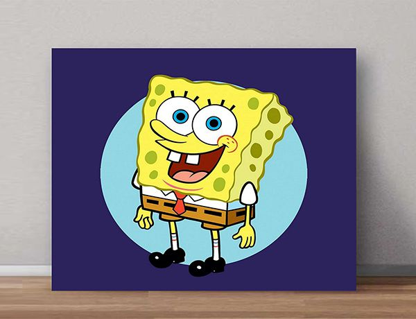Quadro Decorativos Bob Esponja 0008  - Paredes Decoradas
