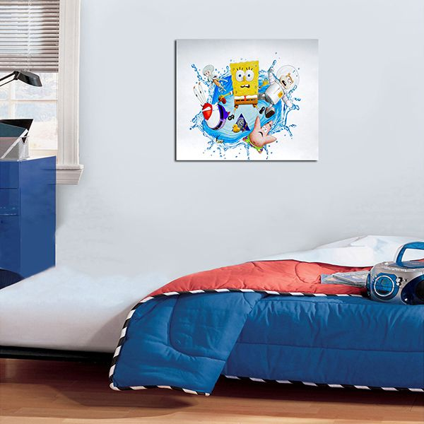 Quadro Decorativos Bob Esponja 0013 - Paredes Decoradas