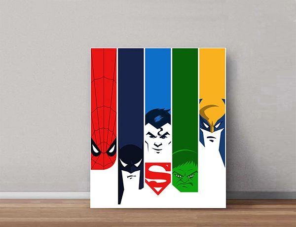 Quadro Decorativos Heróis 0001  - Paredes Decoradas