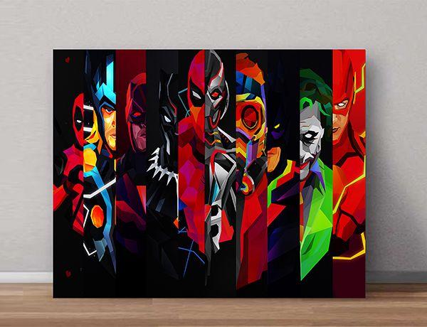Quadro Decorativos Heróis 0025  - Paredes Decoradas