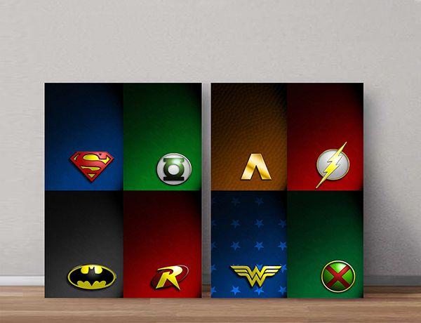 Quadro Decorativos Heróis 0030  - Paredes Decoradas