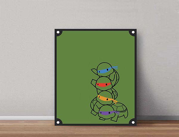 Quadro Decorativos Tartarugas Ninjas 0001  - Paredes Decoradas