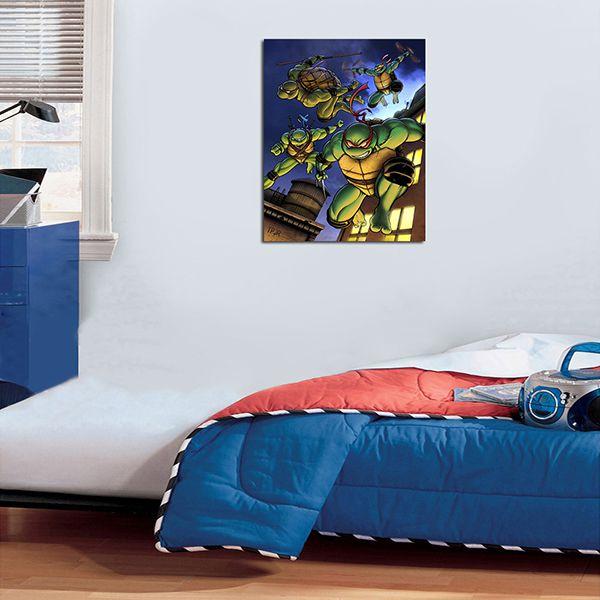 Quadro Decorativos Tartarugas Ninjas 0003  - Paredes Decoradas