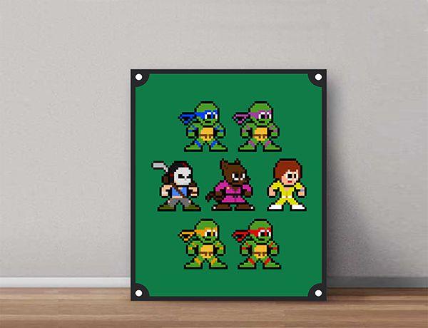 Quadro Decorativos Tartarugas Ninjas 0004  - Paredes Decoradas