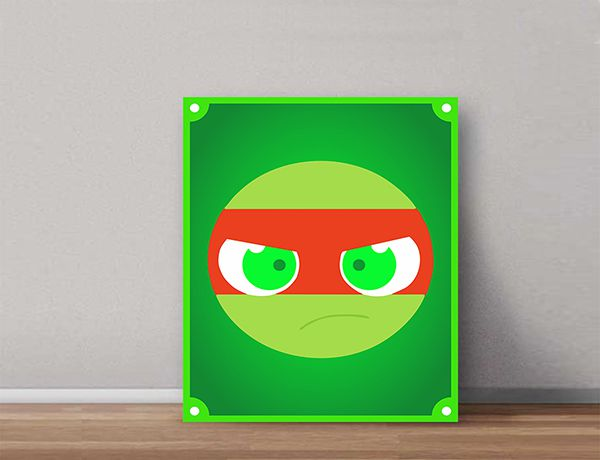 Quadro Decorativos Tartarugas Ninjas 0005  - Paredes Decoradas