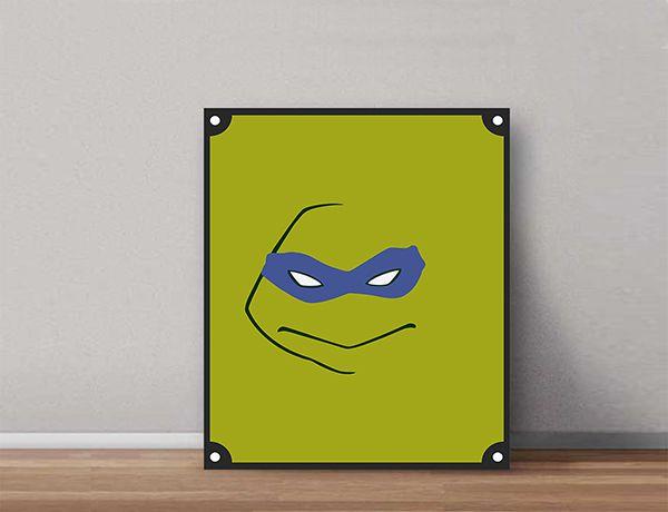 Quadro Decorativos Tartarugas Ninjas 0011  - Paredes Decoradas