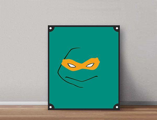 Quadro Decorativos Tartarugas Ninjas 0012  - Paredes Decoradas