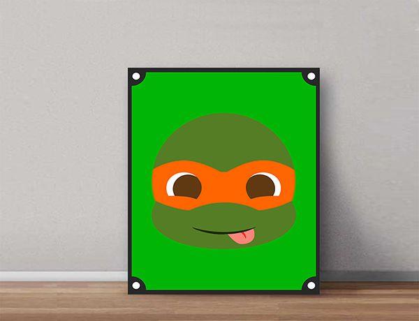 Quadro Decorativos Tartarugas Ninjas 0013  - Paredes Decoradas