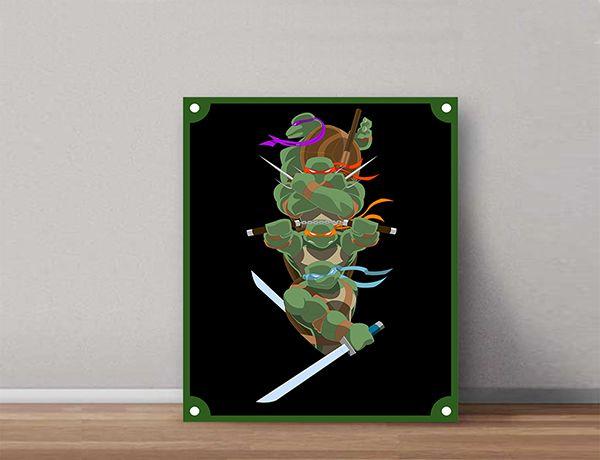 Quadro Decorativos Tartarugas Ninjas 0017  - Paredes Decoradas