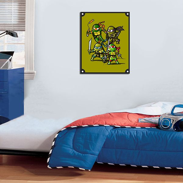 Quadro Decorativos Tartarugas Ninjas 0018  - Paredes Decoradas