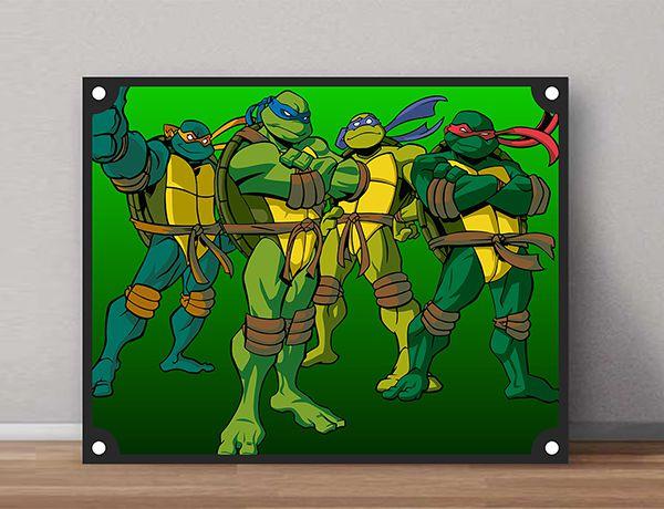 Quadro Decorativos Tartarugas Ninjas 0019  - Paredes Decoradas