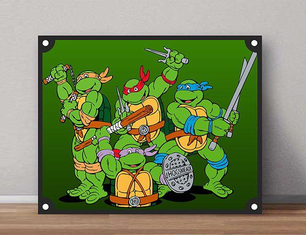 Quadro Decorativos Tartarugas Ninjas 0020  - Paredes Decoradas