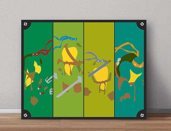 Quadro Decorativos Tartarugas Ninjas 0021  - Paredes Decoradas
