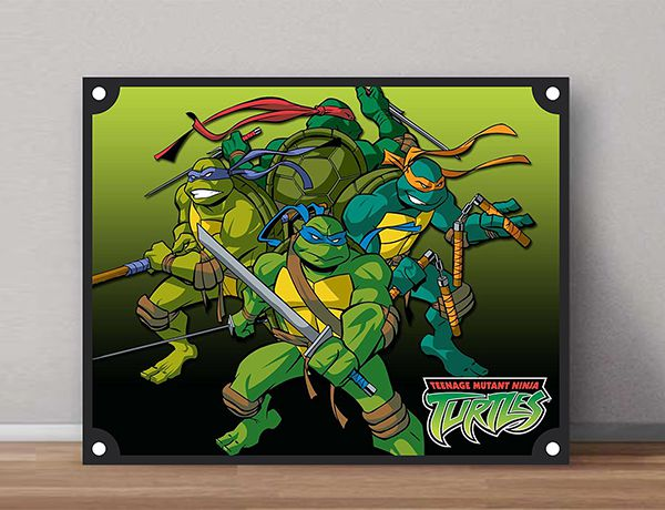 Quadro Decorativos Tartarugas Ninjas 0022 - Paredes Decoradas