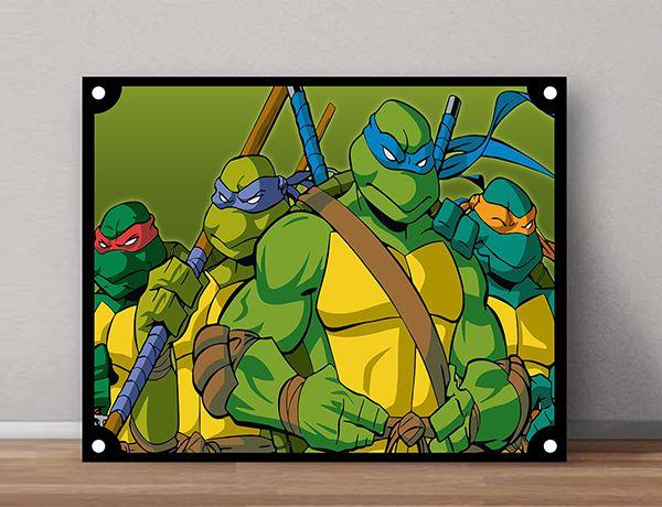 Quadro Decorativos Tartarugas Ninjas 0023  - Paredes Decoradas