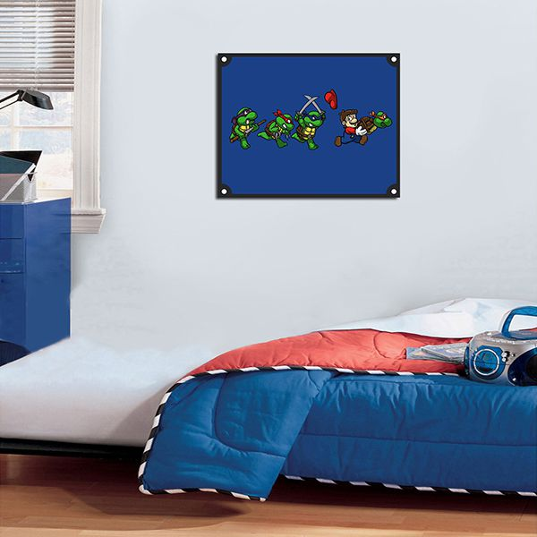 Quadro Decorativos Tartarugas Ninjas 0025  - Paredes Decoradas