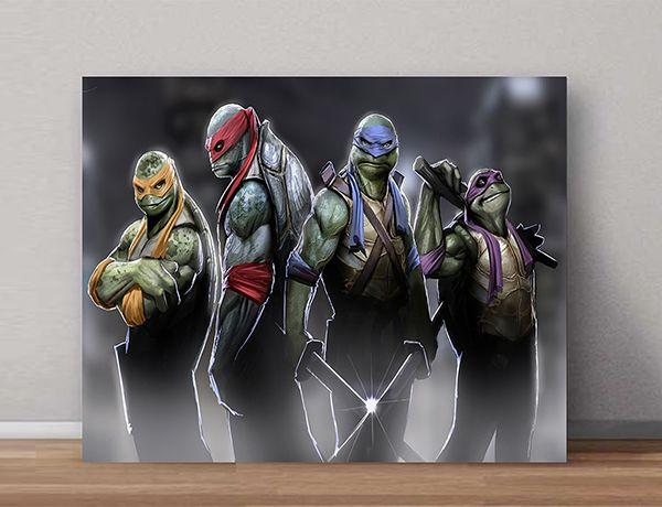Quadro Decorativos Tartarugas Ninjas 0030  - Paredes Decoradas