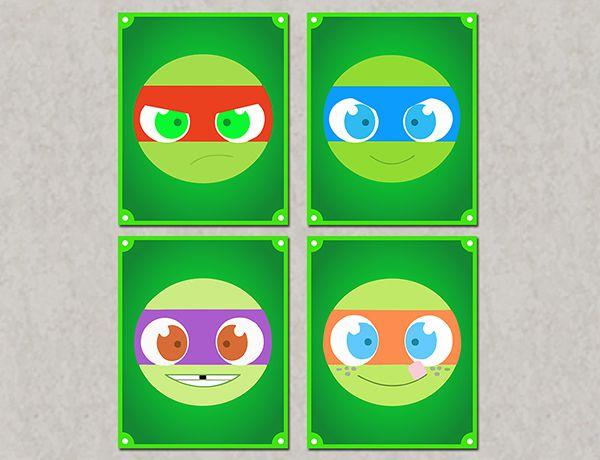 Quadro Decorativos Tartarugas Ninjas 0031  - Paredes Decoradas