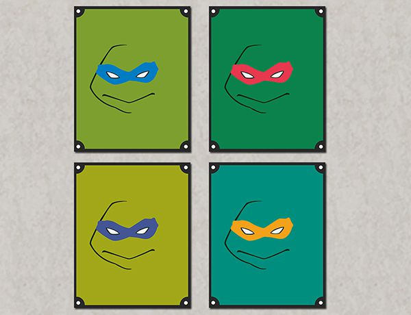 Quadro Decorativos Tartarugas Ninjas 0032  - Paredes Decoradas