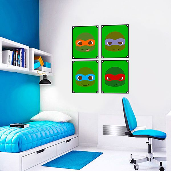 Quadro Decorativos Tartarugas Ninjas 0033  - Paredes Decoradas