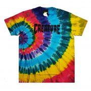 Camiseta Creature Shredded Tie Dye