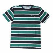 Camiseta Diamond Mini Og Script Striped Tee Verde/Azul Marinho