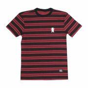 Camiseta Grizzly Bear Tee Stripe Vermelho